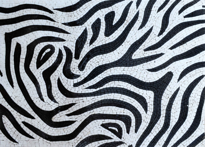 Abstract Mosaic Art - Zebra Pattern
