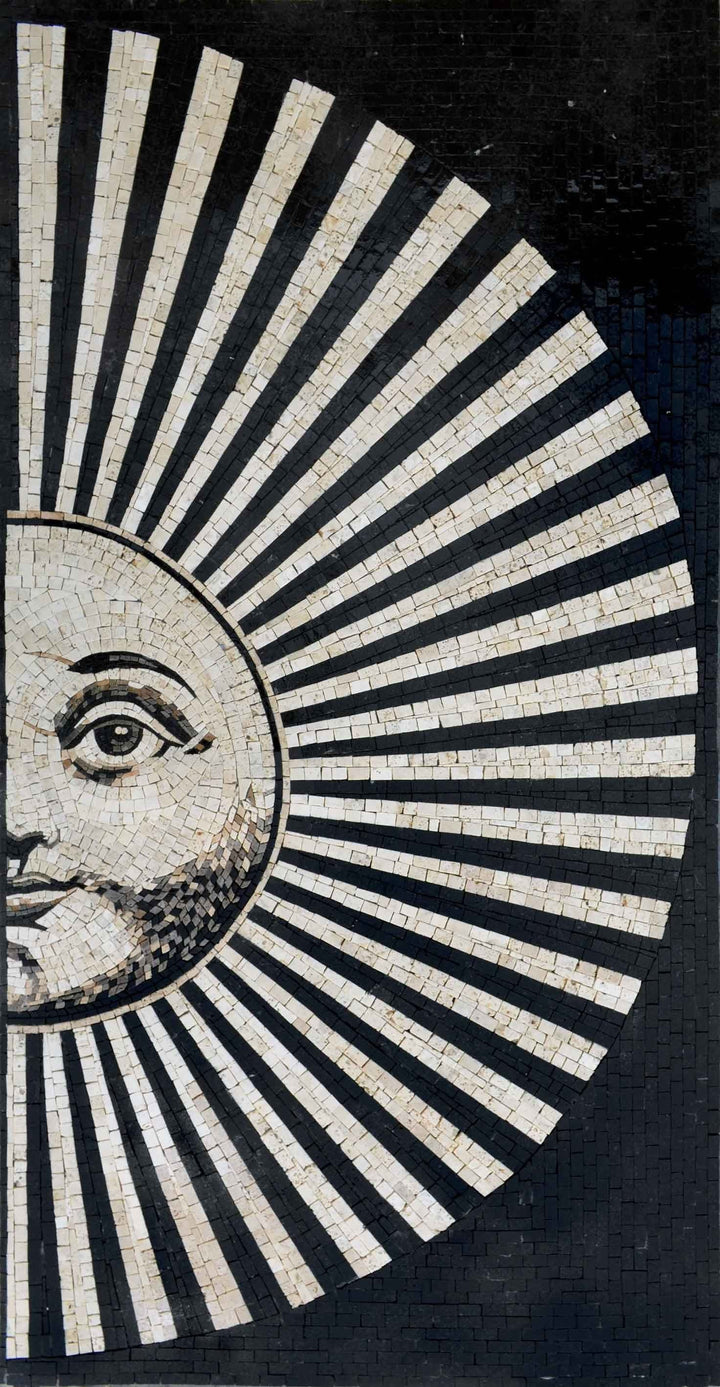 Mosaic Art - Striped Sun