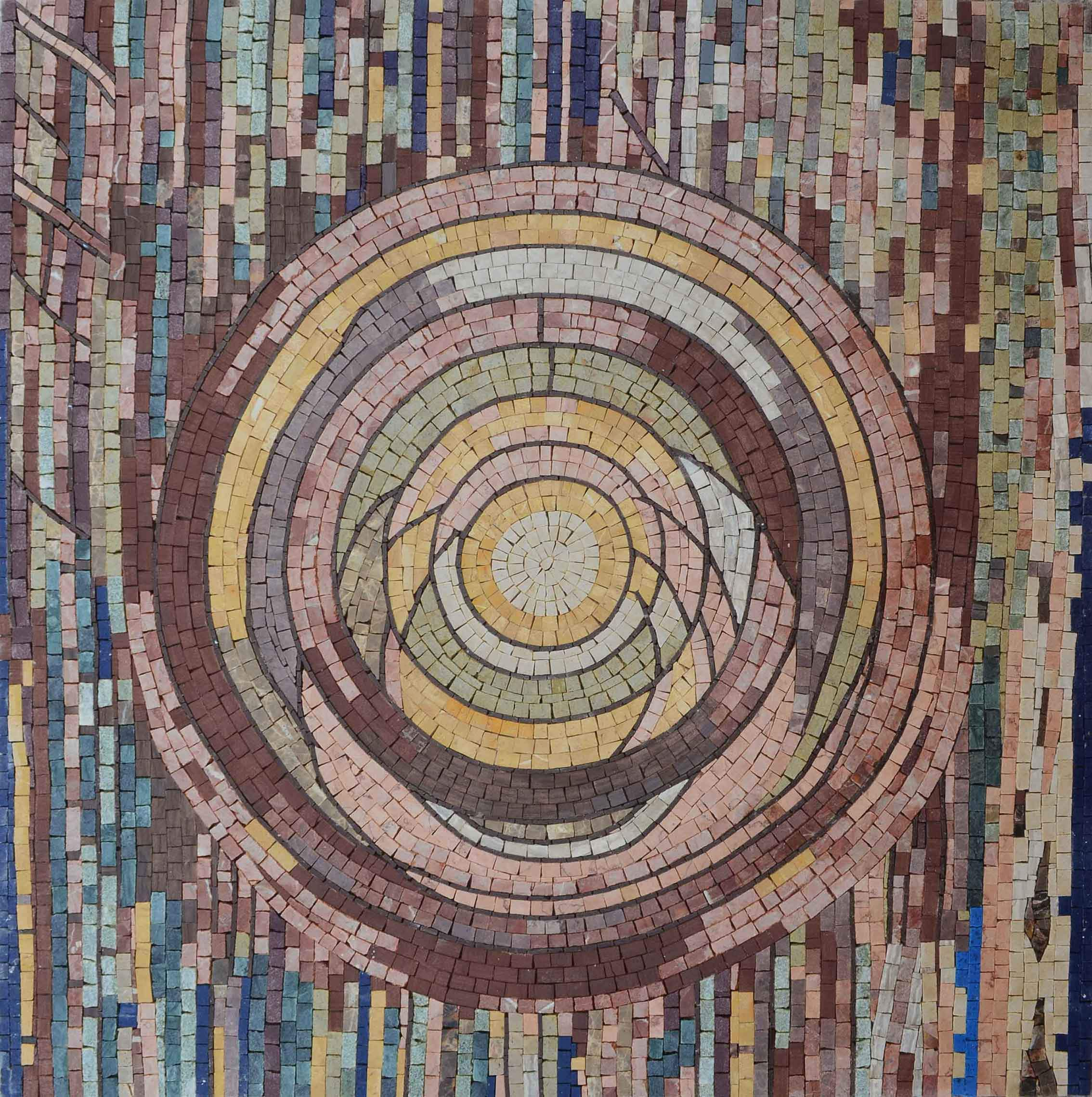 Abstract Design in Circles - Mosaic Art