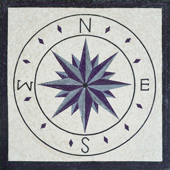 Marble Mosaic Compass - Bussola