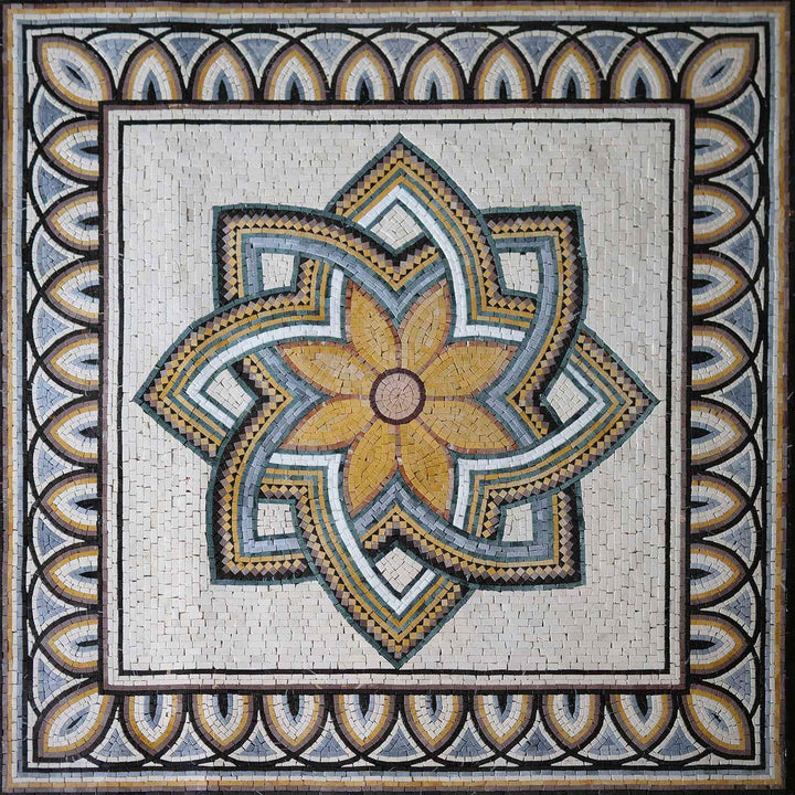 Geometrical Flower - Mosaic Art