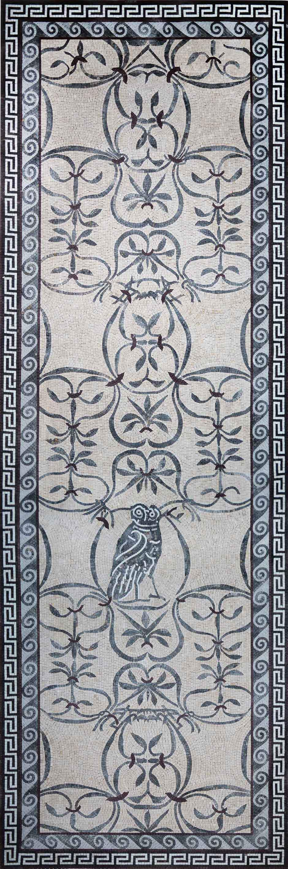 Owl & Floral Pattern Mosaic Wall Art Pic