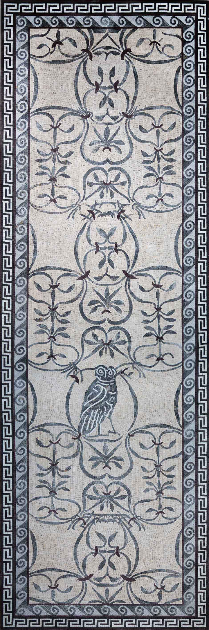 Owl & Floral Pattern Mosaic Wall Art
