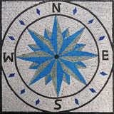 Blue Basila - Compass Mosaic Medallion