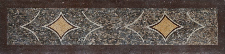 Umber Hues Geometric Mosaic Artwork