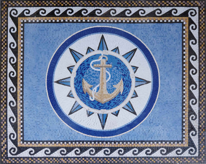 Roman Mosaic Artwork- The Anchor