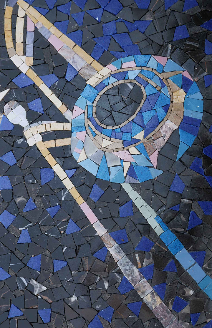 Eruptive Trombone Music Mosaic Artwork