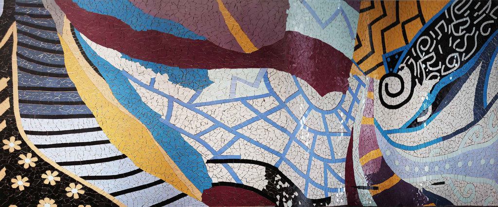 Shapes and Colors - Abstract Mosaic Artwork