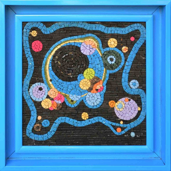 Kandinsky's Circles - Abstract Mosaic Art Reproduction