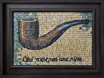 "Rene Magritte Ceci n'est pas une pipe"" - Mosaic Framed Reproduction"""