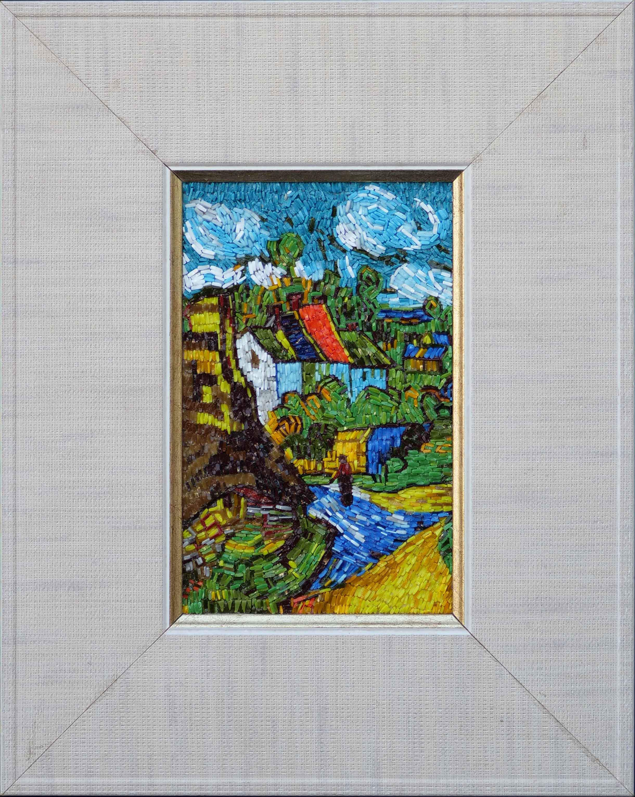 House in Auvers Mosaic Art Reproduction