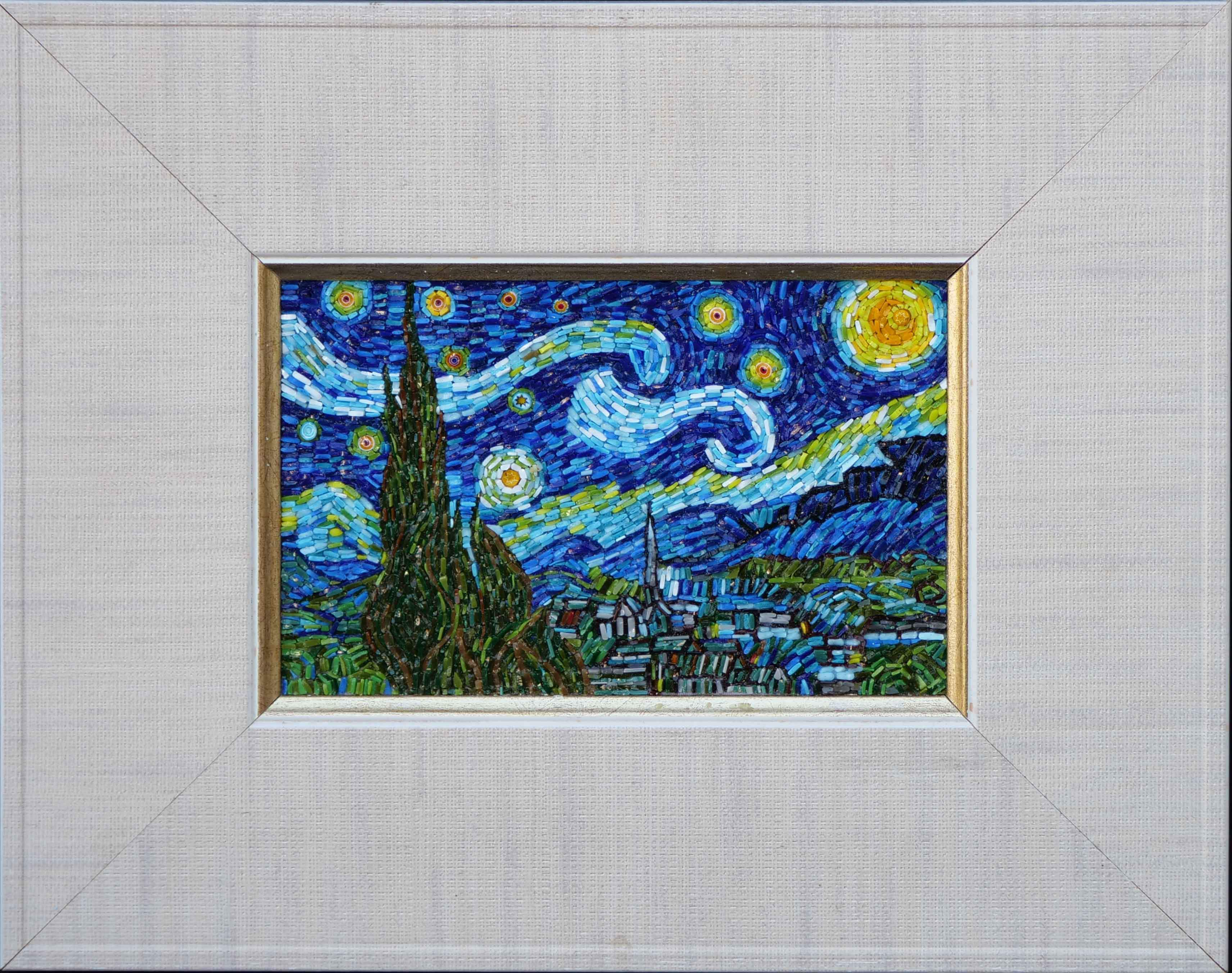 The Starry Night Mosaic Art Reproduction Pic