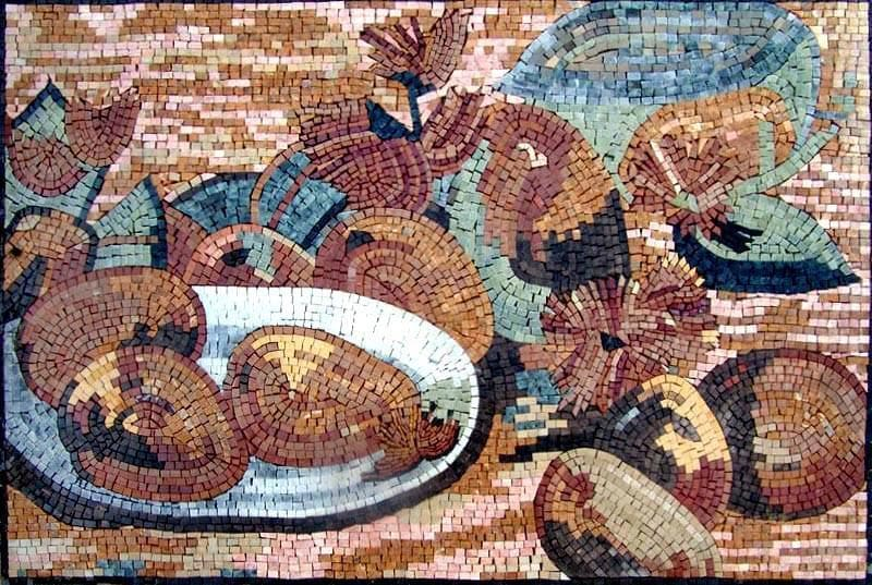 Kitchen Backsplash - Impressionism Fruits Mosaic