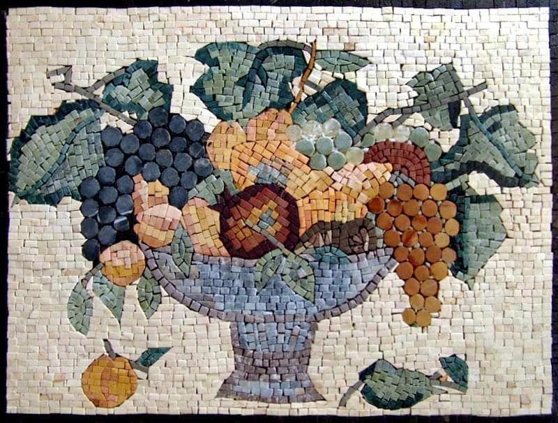 Kitchen Mosaic- Antique Food Still Life