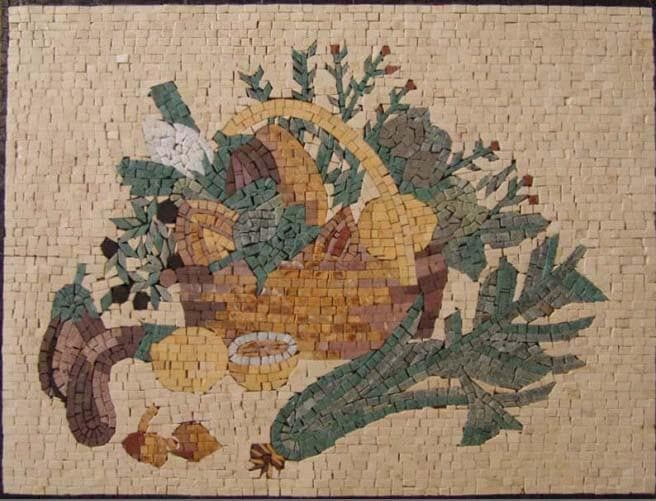 Kitchen backsplash - Vintage fruit basket Mosaic