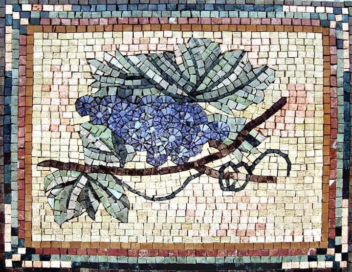 Mosaic Patterns- Blue Grapes