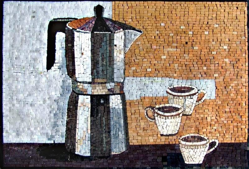 Mosaic Designs- Coffee Kettle