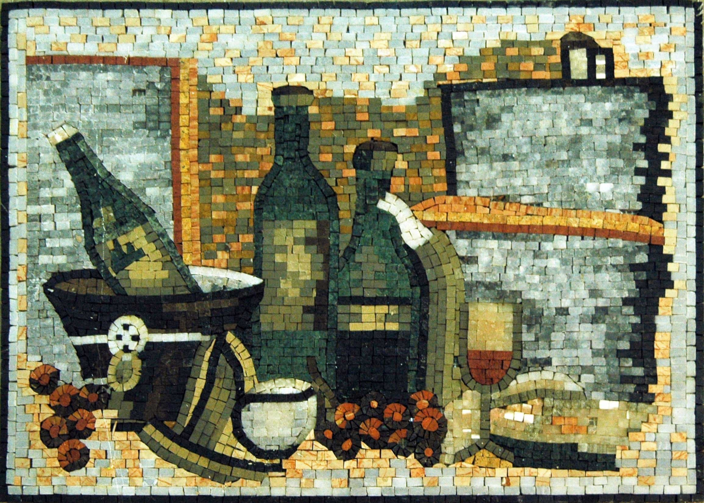 Mosaic Art For Sale- Wine Bottles