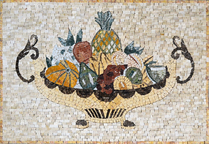 Mosaic Kitchen Backsplash- Passion Fruits