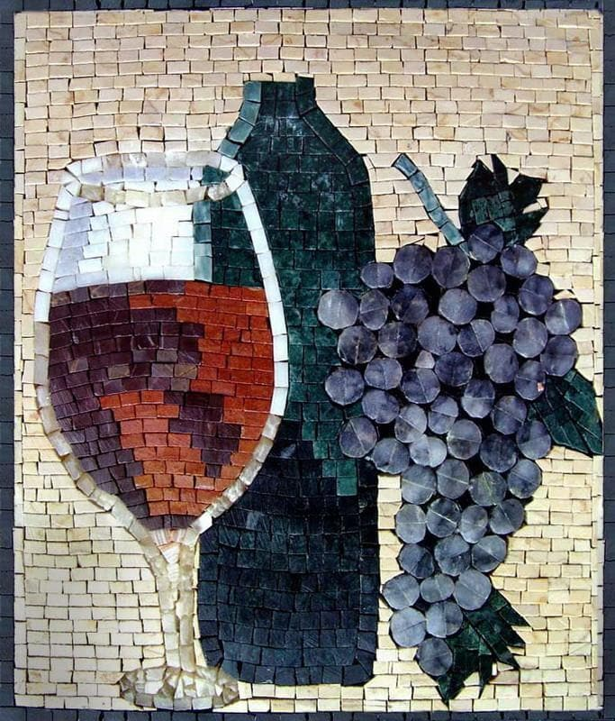 Mosaic Kitchen Backsplash - Vino