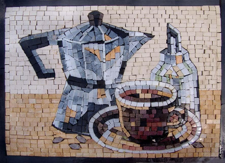 Mosaic Designs- Kettle and Cups