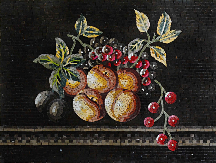 Otherworldly Fruits - Mosaic Wall Art