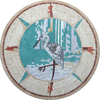 Flamingo Compass - Mosaic Medallion