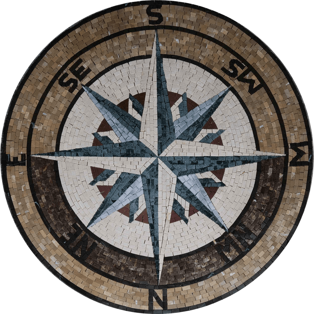 Sandy - Compass Mosaic Medallion