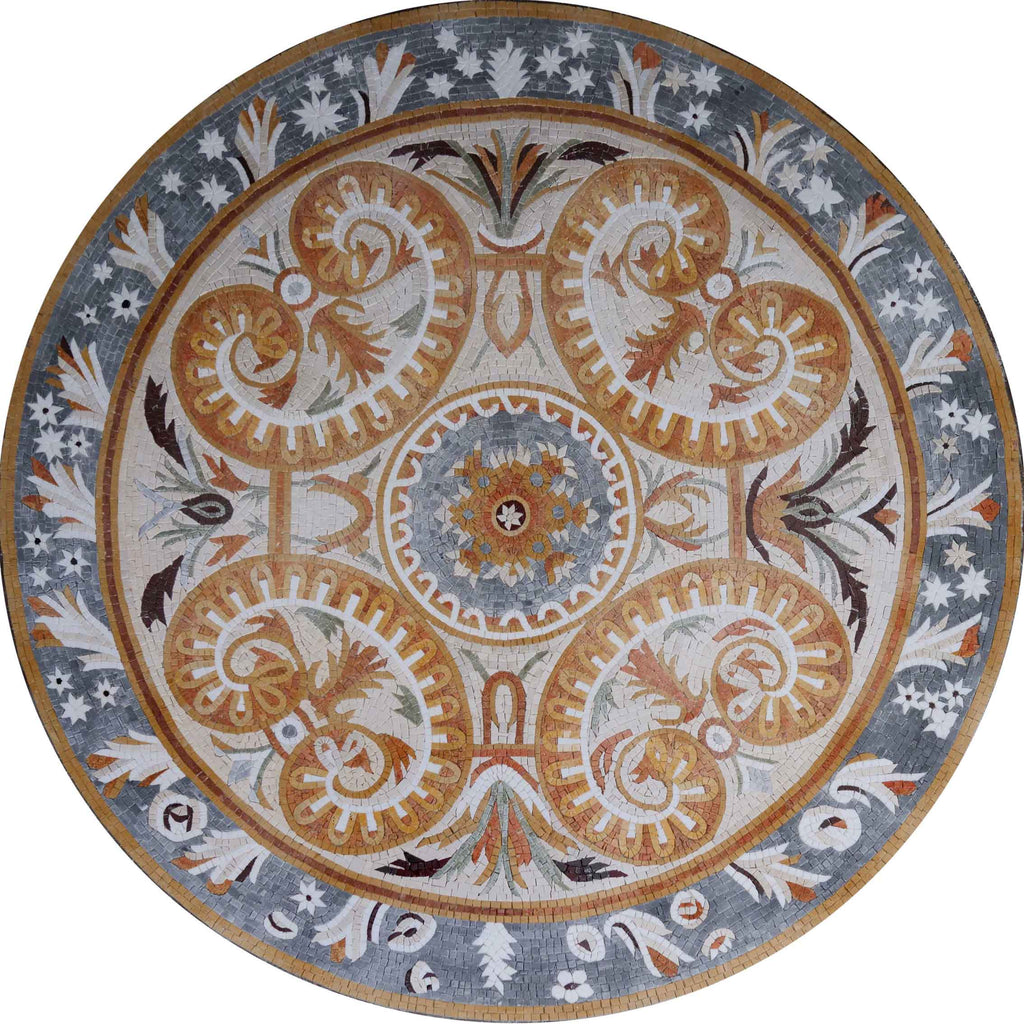 Autumn Glory Floral Mosaic Medallion