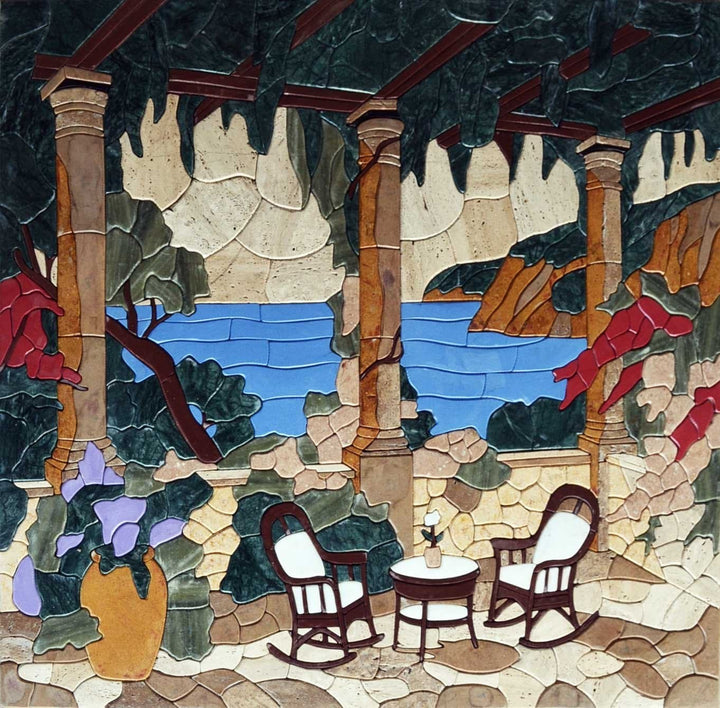 Terrace view Mosaic Art