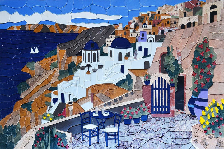 Mykonos in Greece Mosaic Mural