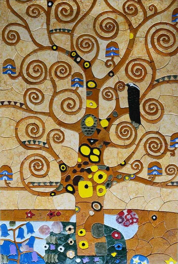 "Klimt  Tree Of Life"" - Mosaic Reproduction """