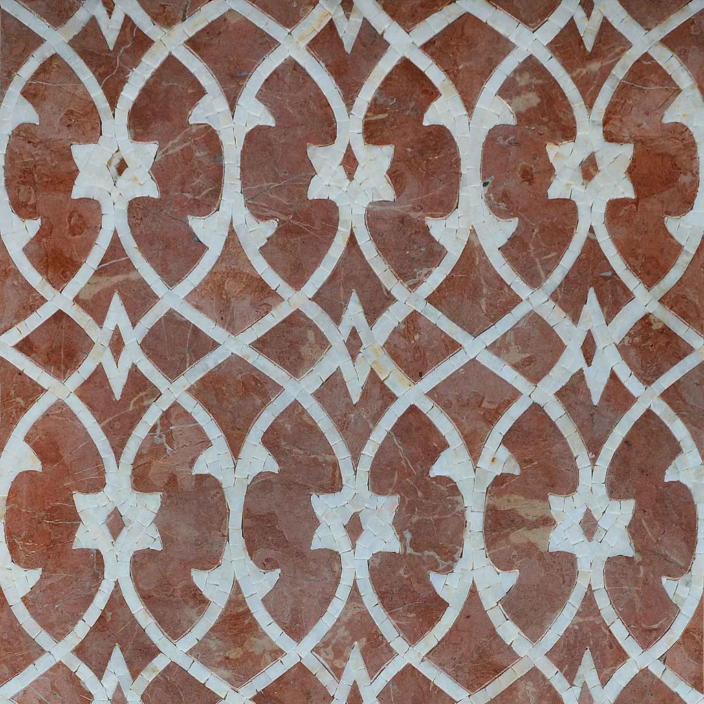 Mosaic Pattern - Cacao Sienna