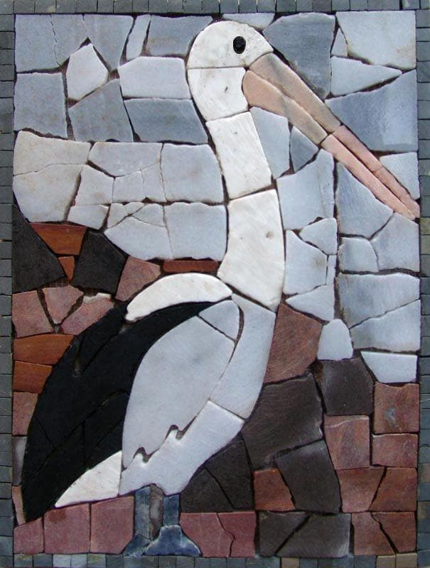 Mosaic Art for Sale - White Pelican