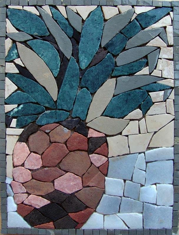 Mosaic Kitchen Backsplash- Ananas