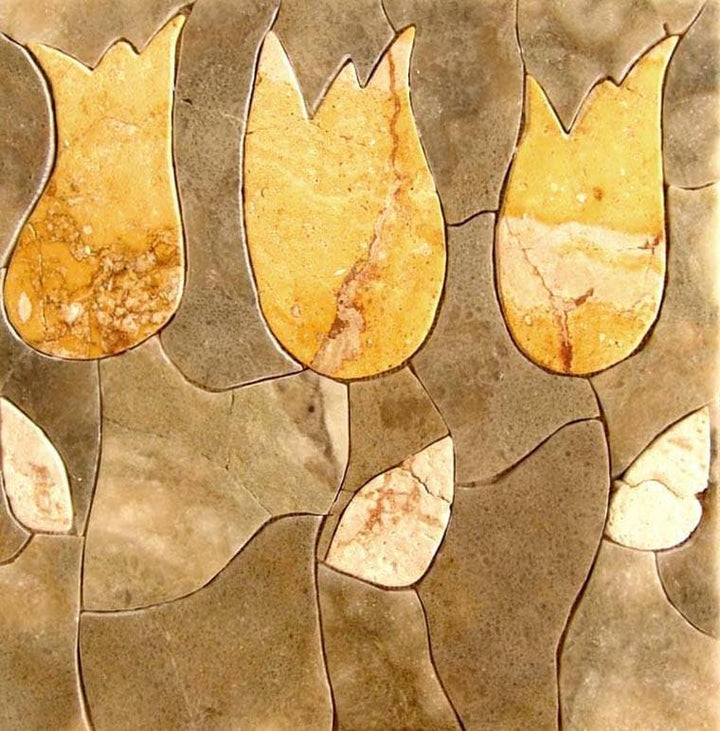 Yellow Tulips Stone Art- Pietra Dura