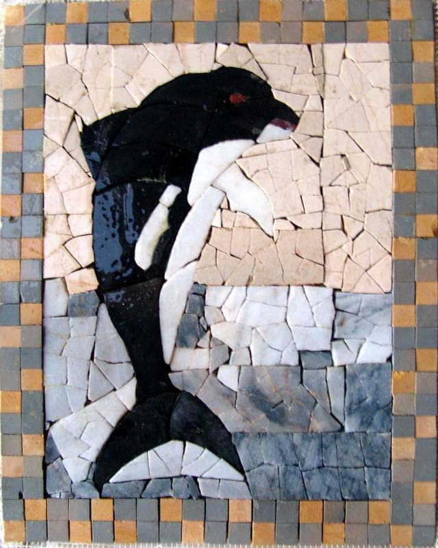 Mosaic Art - The Black Dolphinos