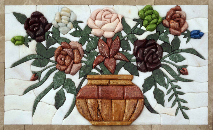 Mosaic Designs - 3D Oval Flower Basket