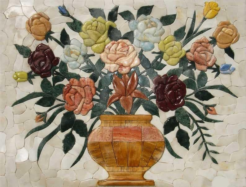 Floral Mosaic Patterns - 3D Rose