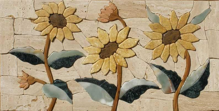 Sunflowers Mosaic Art Design