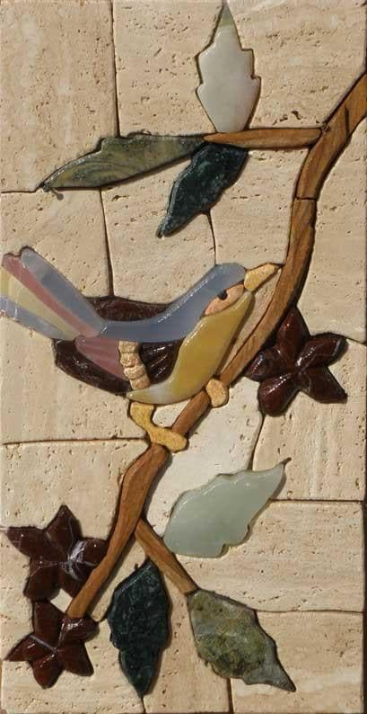 Mosaic Bird Stone Art