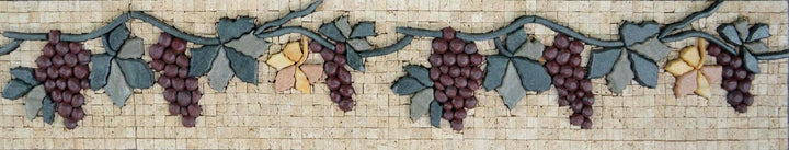 Rustic Kitchen Backsplash - Grape Vine