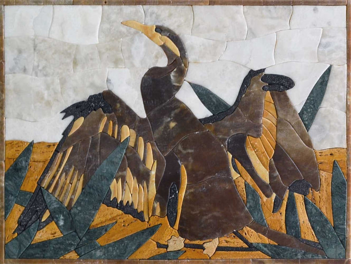 Mosaic Art for Sale - Petal Cormorant