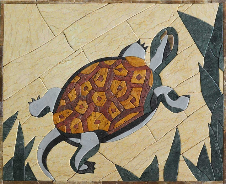 Animal Mosaic Designs - Petal Turtle
