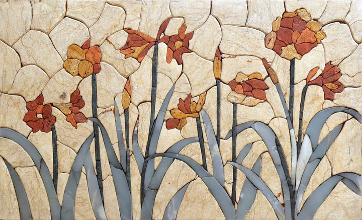 Mosaic Tile Art - Autumn Garden