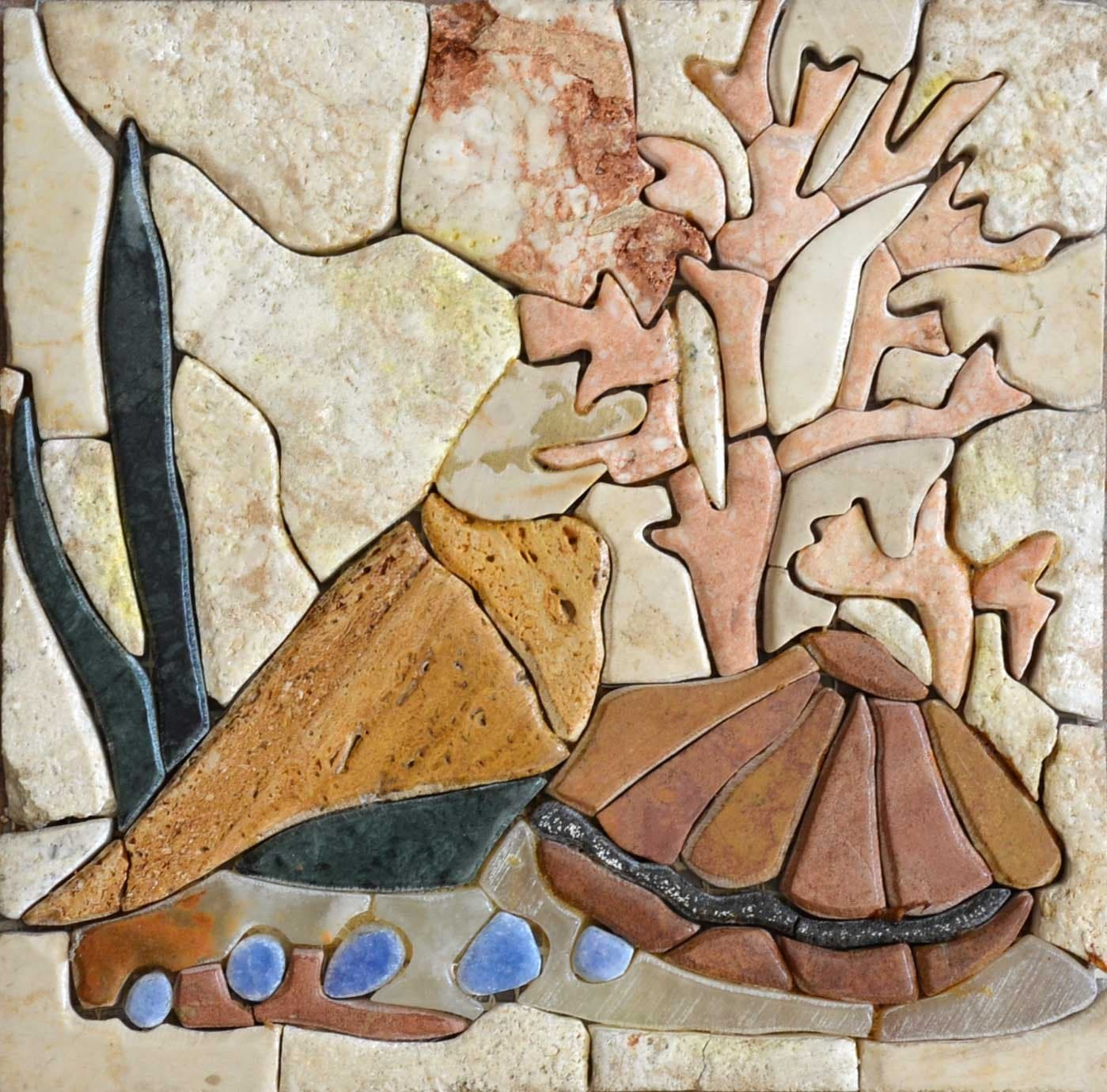 Coral Reef Stone Mosaic