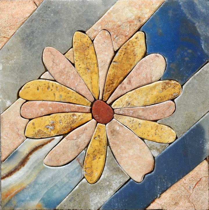Mosaic Art Designs - Contrasting Daisies