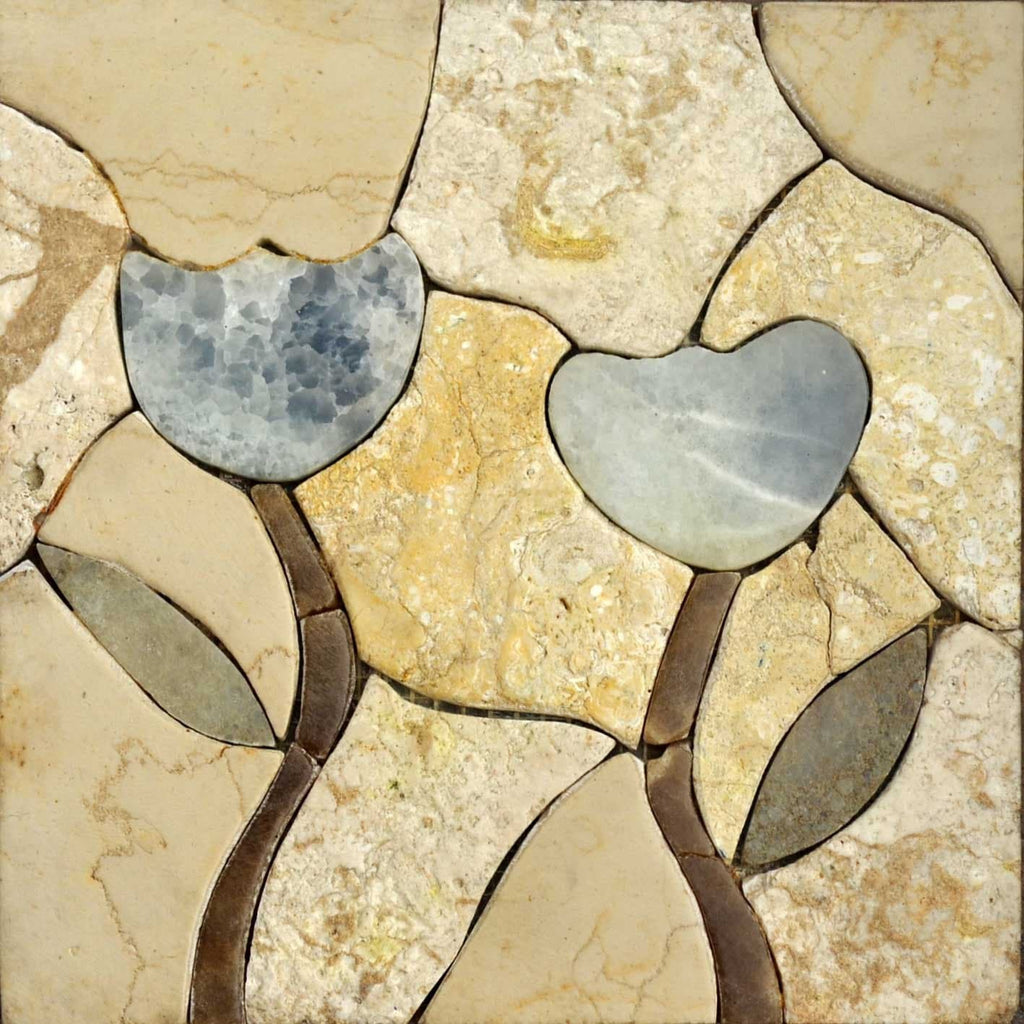 Mosaic Designs - White Duo