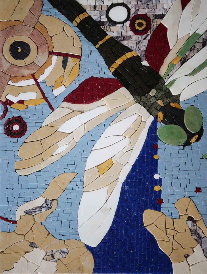 Mosaic Art - Dragonfly Colors