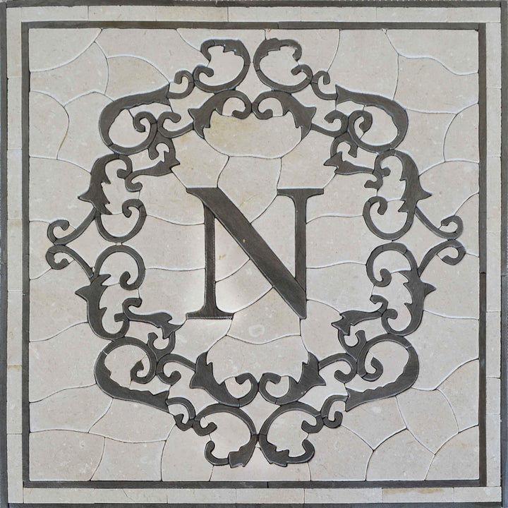Mosaic Square Accent - N Letter